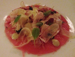 Big-Eye Tuna with Blood Orange and Fennel
